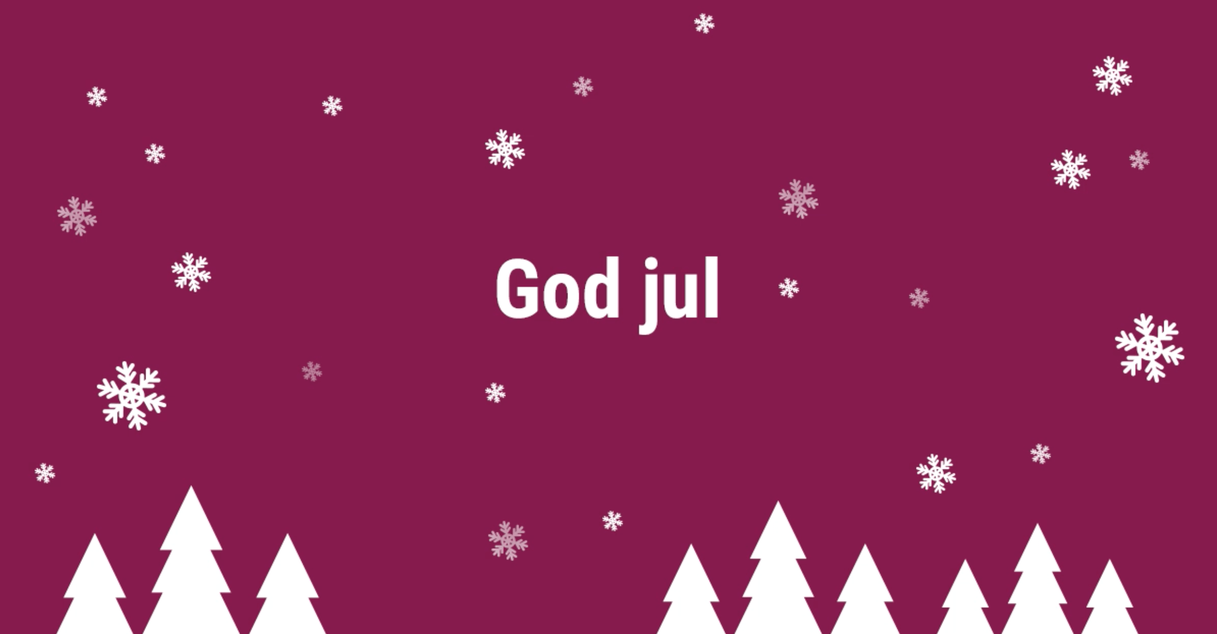 God jul önskar Consector